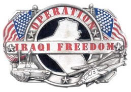Iraqi Freedom buckle